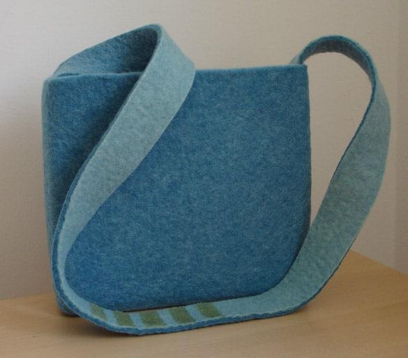 meerestr ume in filz filztasche in blaut nen sophia. Black Bedroom Furniture Sets. Home Design Ideas